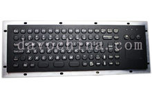 Metal Kiosk Keyboard with Touchpad Stainless steel keyboards weatherproof keypads industrial keyboards ruggedized keyboards