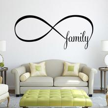 2017 Modern wall sticker Decor Infinity Symbol Word Family Art Home Room stickers Decor For Living bedroom decor accessories