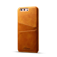 4 Colors Discount Price Leather Back cover with card holder for Huawei P10 high quality phone bags case for Huawei P10 Plus