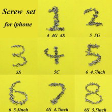 cltgxdd 8set/package Repair Parts Screws for Iphone 4 4s 5G 5C 5S 6G 6 6s 4.7/5.5 inch Full Screw Set Kit New(China)
