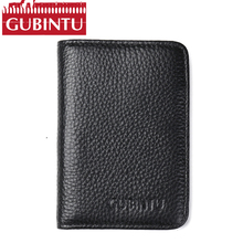 Buy Slim Leather ID/Credit Card Holder Bifold Front Pocket Wallet RFID Blocking card holders 100% genuine leather wallets mens for $9.45 in AliExpress store