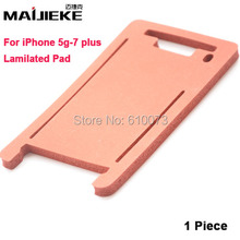 MAIJIEKE lamination mat pad for iphone 7 6s 6 Plus 5 5S 5C front glass with frame laminating machine mold Silicone mats(China)