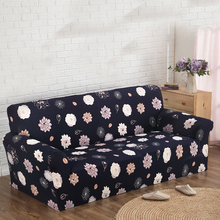 1~4Seat Dark Sofa Cover Furniture Slipcover Washable Elastic Polyester Home Decor Soft Big Couch Sofa Furniture Cover