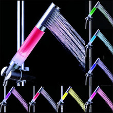 New Qualified  4 LED Light 7 Colors Gradual Change Bathroom LED light shower Head Mixer Faucet Tap Dropship D45Au22A