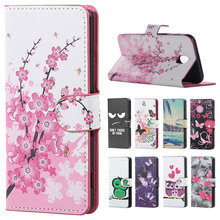 For ( Samsung J7 2017 ) Case Pink Plum Skin Leather Wallet Flip Cover For Samsung Galaxy J7 2017 j730 j7 Pro Mobile Phone Coque