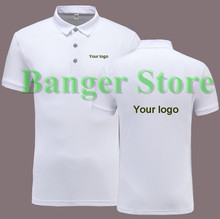 Women and men's Customized logo POLO shirt short sleeve overalls work clothes
