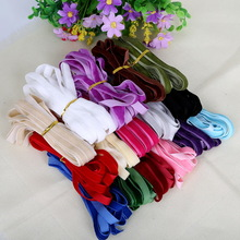 "New 5yard/lot 3/8"" 10mm width multi colors options velvet ribbon velour webbing headband Hair band accessories white lace fabric"
