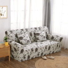 Grey flowers couch sofa cover polyester couch sofa cover for living room Loveseat sofa Furniture Cover flower Machine Washable