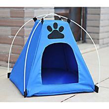 Waterproof Foldable Pet Dog Camp Tent Bed House Mini Oxford pETS Cat Puppy Outdoor Indoor Play Sleep Kennel