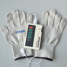 XFT-502 2Ways 4Pads Electrical Stimulator Low Frequency Digital Massager TENS Machine For Body Massage+1Pair Conductive Gloves(China)