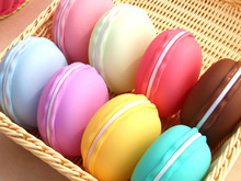 Colorful Cute Earphone SD Card Macarons Bag Big Storage Box Case Carrying Pouch Fashion Storage for Necklace Earring jewelry