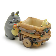 5CM Studio Ghibli My Neighbor Totoro Toys Mini Cute Totoro Push Car Resin Action Figure Collection Model Toy for Kids Gift