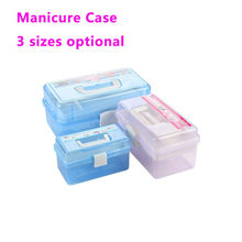 3 Layer Plastic Nail Box Case for Manicure Tools Nail Salon Equipment Travel Case for Lacquers the Nail Tools Cajas de Manicura