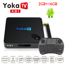 Newest YOKA KB1 Android 6.0 TV Box with Amlogic S905X Quad Core 2.4G+5.8G Dual Band WiFi BT 4.0 Mini PC Meida Player Set top box