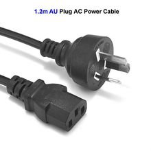 3 Prong Power Cable AU Australia Plug IEC C13 AC Adapters Power Cord 1.2m 4ft For Desktop PC Computer Monitor LCD TV Printer(China)