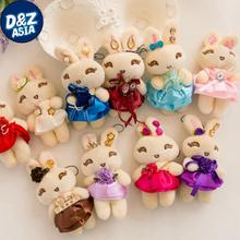 Wedding pendant crown Mi rabbit Teddy bear cartoon bouquet doll mobile phone pendant