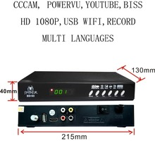 set top box Satellite Receiver DVB-S2 1080P HD satellite TV Decoder You tube, cccam, powervu, online movie HD-S3
