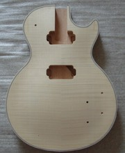 Solid wood unfinished DIY electric guitar body