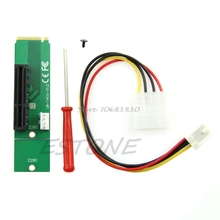 PCI-E 4X Female to NGFF M.2 M Male Adapter Key Power Cable with Converter Card #R179T#Drop Shipping
