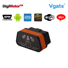 Original Vgate iCar2 Wifi OBD2 ELM327 China ELM 327 V2.1 Wi Fi OBD 2 Diagnostic Tool Scanner Wi-Fi OBDII For iPhone iOS Android