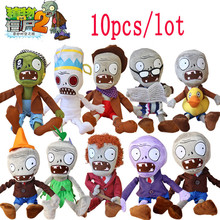 10pcs/lot 30CM 12'' Plants vs Zombies Soft Plush Toy Doll Baby Toy Gifts Party toys Free shipping(China)