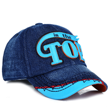 1PC Cowboy Spring Summer Kids Caps Children Cotton Letter Baseball Caps Adjustable Hip Hop Snapback Sun Caps Gift For Boys Girls