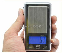 wholesale APTP450 500g x 0.1g Digital Pocket with battery Jewelry Scale with Calibration Weights free shipping