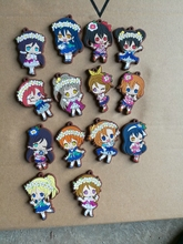 14 Pcs/set Anime lovelive keychain figures love live pvc figure phone strap pendant toys gifts