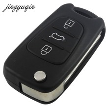jingyuqin Car Remote Flip Key Shell 3 Button For Hyundai Avante I30 IX35 Kia K2 K5 Sorento Sportage Folding Key Case Blank Cover(China)