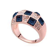 Women Vintage Ring Brand Jewelry Austrian Crystal Fashionable Rings Women Finger Jewellery Cheap Rings Fashion Fine Bijoux Gifts(China)