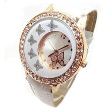 Paradise 2017 Creative New New Women Ladies Butterfly Pattern Crystal Quartz Wrist Watch wholesale  July20
