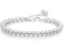 925-BG03 Trend Accessories 925 Pure Silver Bracelet 5MM Beads Bracelet Ball Chain Bracelet for Women Factory Price The Gifts