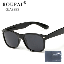 RouPai 2017 Fashion sunglass Sunglasses Men Polarized Driving Mirror aviation Black Frame Eyewear Male Sun Glasses shades
