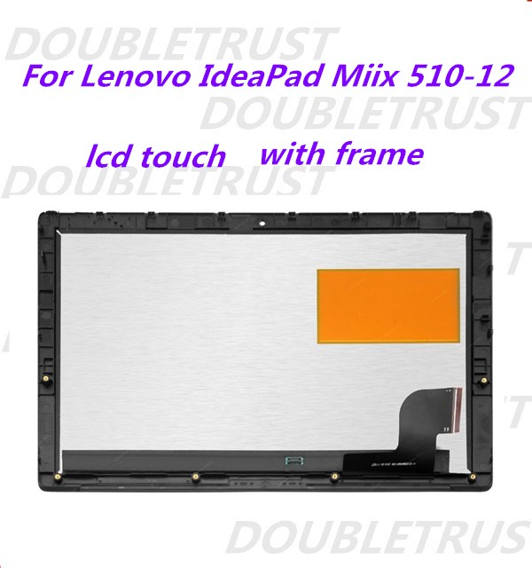 with frame bezel For Lenovo ideaPad MIIX510-12 Series LED LCD Screen touch digitizer assembly
