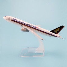 16cm Metal Alloy Plane Model Air Singapore Airlines Boeing 777 B777 Airways Airplane Model w Stand Aircraft Gift(China)