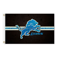 Lions Design Blue Detroit Lions Flag Team Sport Super Bowl Champions Banners Lion Flag Flying 3ft X 5ft Banner(China)
