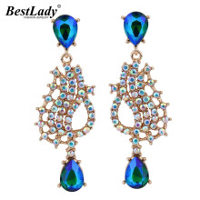 Best lady Sexy Bohemian Wedding Crystal Dangle Earrings Women Luxury Bead Good Quality Cheap Drop Earrings Free Shipping 4236