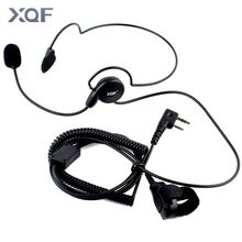 Advanced Unilateral headphone Mic Finger PTT Neckband Earpiece Cycling Field Tactical Headset for Kenwood BAOFENG Radio