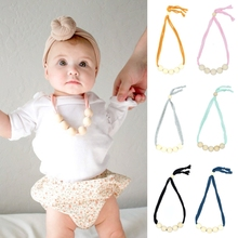 Buy Baby Natural Wood Teeth Chain Necklace Newborn Mom Kids Nursing Teether Toy Gift -B116 for $1.26 in AliExpress store