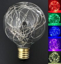 Led lamp Vintage Design Fairy E27 LED Bulb G95 85V-265V 6 Colors RGB String Firework Filament Christmas holiday home Decor