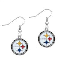 5 Pairs Fans Earrings Enamel American Football Pittsburgh Steelers Charm Drop Earrings(China)