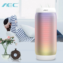 The Original AEC BQ-615 PROl LED Lights HIFI Stereo Speaker Wireless BT 3.0  3.5mm Audio Port Support NFC Microphone FM Radio