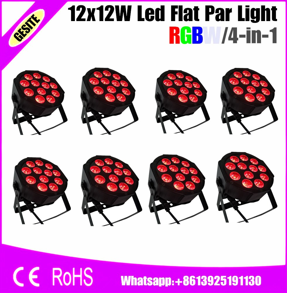 8pcs/lots 12X12W LED PAR lights RGBW 4in1 dmx professional dj equipment<br>