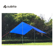 SUBITO  Urltra-Light Camping Tarp( Orange, Green, Blue, 180*220cm) Waterproof Beach Tent Pergola Ultralight Tarp Outdoor Tent