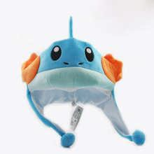 Mudkip Plush Beanies Adult Cosplay Hat Winter Cap Soft Plush Cap Toys