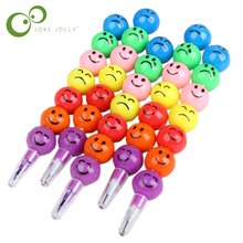 2 Pcs 7 Colors Cute Stacker Swap Smile Face Crayons Children Drawing Gift Hot Selling(China)