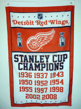 Detroit Red Wings STANLEY CUP CHAMPIONS Flag 3x5FT NHL banner 100D 150X90CM Polyester brass grommets custom66(China)
