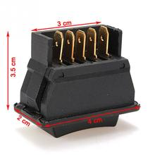 Universal Car Window Lift Switch Auto Car Power Window Switch 5-pin ON/OFF SPST Rocker Black DC 12V(China)