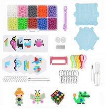 DIY Make Kids Toys 5mm Water Hama Beads 10 Color Sticky Perler Beads Pegboard Set Fuse Beads Jigsaw Water BeadsBond Toy Puzzle(China)