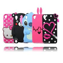 For HTC Desire 820 Case 3D Sulley Tiger Cheshire Cat Stitch Mickey Minnie Lip Hello Kitty Silicone Phone Cases Cover For HTC 820(China)